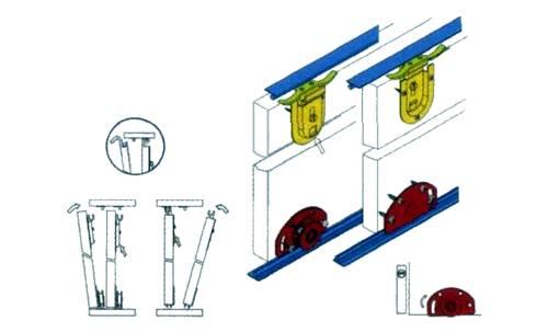 Схема установки дверей-купе.